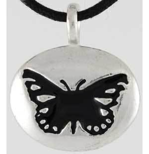 Butterfly Totem Amulet Pendant Wiccan Pagan