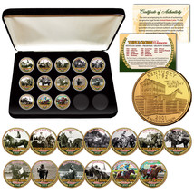 2018 TRIPLE CROWN HORSE WINNERS 24K Gold KENTUCKY Quarters 13-Coin Set B... - $59.35