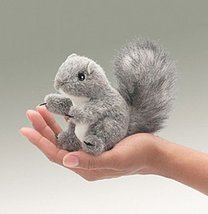 (Ship from USA) GRAY SQUIRREL Finger Puppet #26... - $15.87