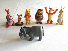Disney Store Figure Playset Winnie The Pooh Figurine 7 Pc Play Set Lot Eyeore ++ - $16.99