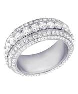 Mens Engagement Designer Diamond Band Ring White Gold Finish 925 Sterlin... - $118.99
