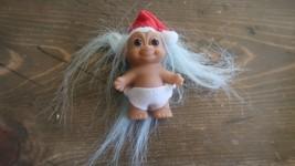 Vintage Santa Baby Troll Doll - $14.26