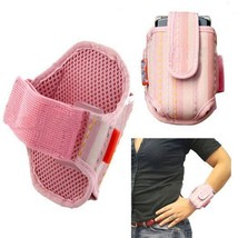Wrist Case Holder Pink fits Tracfone Alcatel OneTouch A394C - $12.86