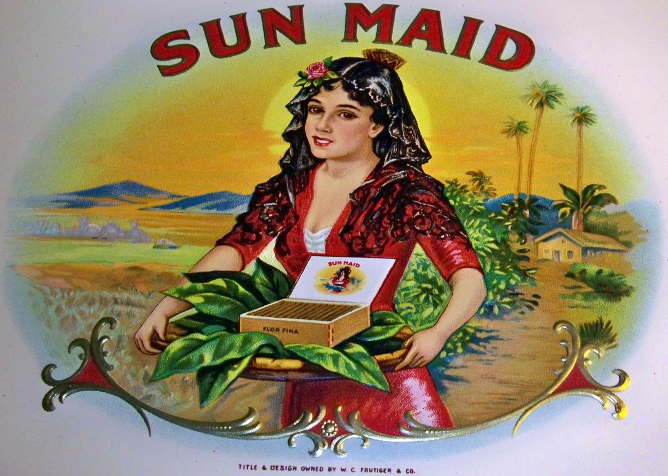 Sun maid cigar labels 002