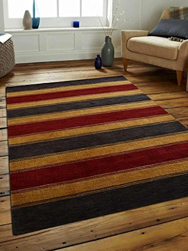 Primary image for Rugsotic Carpets Hand Knotted Loom Wool 5' x 8' Area Rug Contemporary Charcoal G