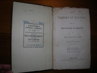 1844 ILLINOIS HISTORY Brown MORMON Joseph Smith death