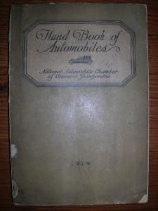 1919 HANDBOOK OF AUTOMOBILES illustrated Studebaker Buick Pierce-Arrow Chevrolet