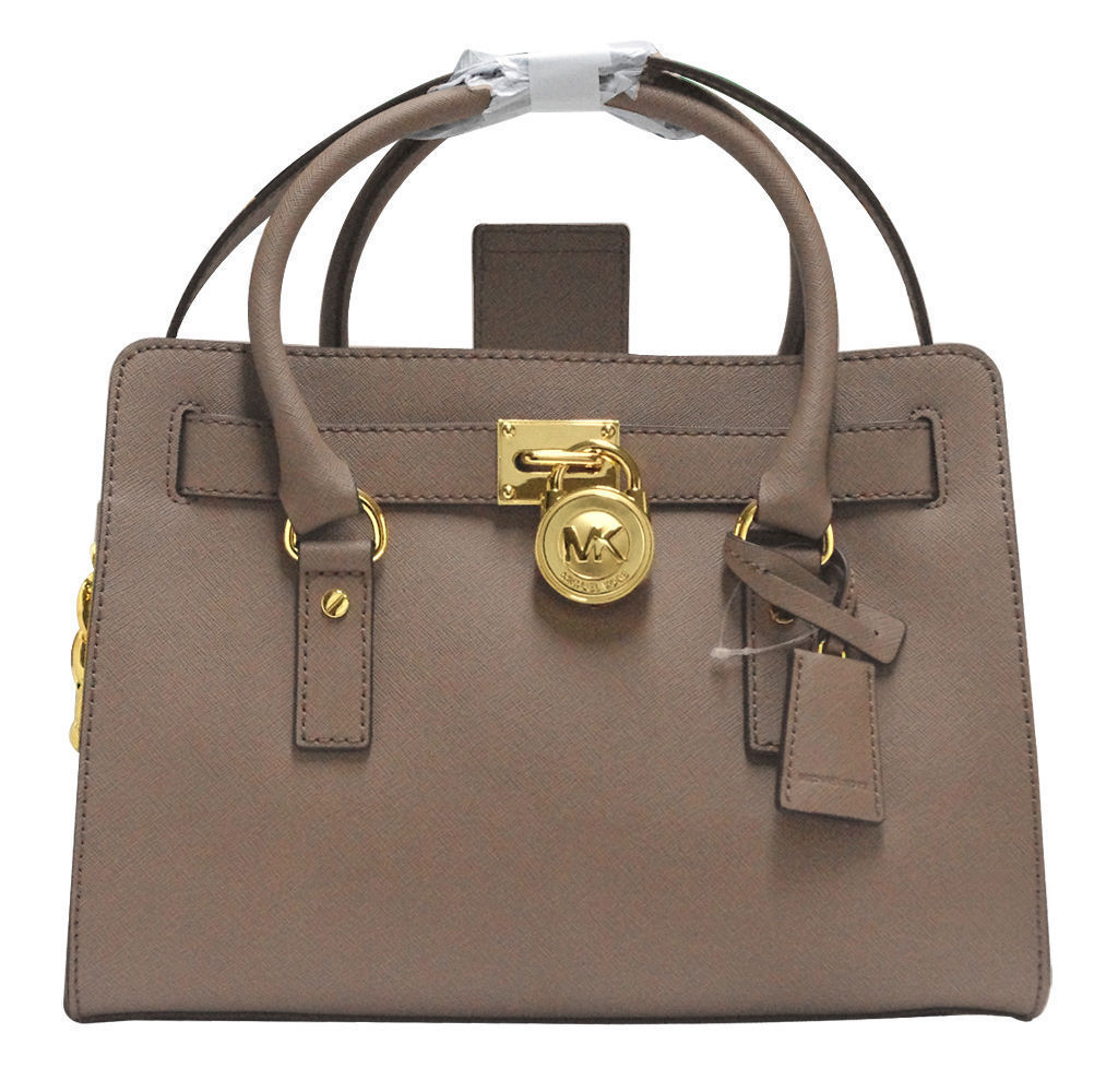 0710c7956f3a S l1600. S l1600. Previous. NWT! MICHAEL KORS HAMILTON MEDIUM DARK DUNE  SAFFIANO LEATHER SATCHEL BAG $298