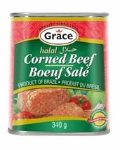 6 Pack Grace Halal Corned Beef 340g Each - From Canada - FRESH & DELICIOUS! - $44.50