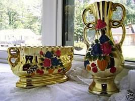 2Pc. large Planter & vase Set - made in Japan - $14.00