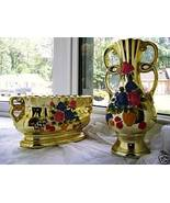 2Pc. large Planter & vase Set - made in Japan - $14.00