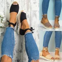 5 Colors 2018 Women Summer Espadrilles Fashion Style Flip-flop Sandals Flat Wome