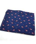 Scottish Terrier Scotty Dog Craft Fabric Panel Flannel Cotton Navy Blue... - £17.99 GBP