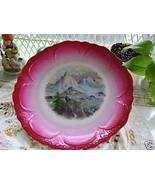 Vintage Wall Plate  with Mountain Scene - $17.99