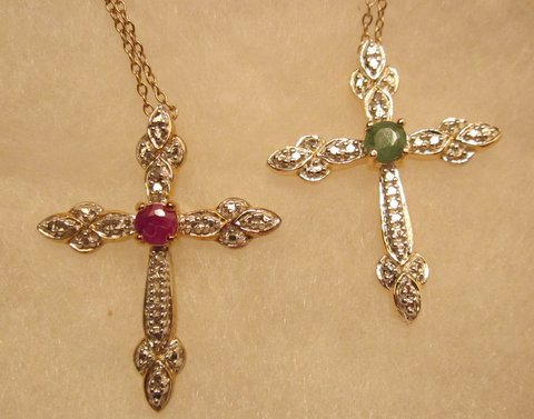Ruby Cross Necklace
