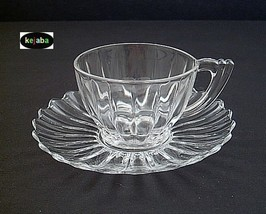 Heisey Crystolite Cup And Saucer - $12.95