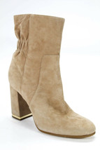 Michael Michael Kors Womens Block Boots tan natural Gold Suede Zip bootie 9 - $75.00