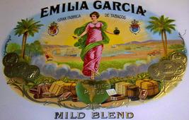 Emilia Garcia Embossed Inner Cigar Label, 1920's - $6.99