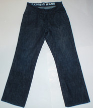 NWT New Express Dark Wash Care Label Kingston Classic Fit 28x30 Jeans $98 - $34.60