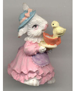 Miss Bunny and Friend Share a Cup of Tea Easter... - $4.50