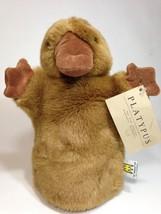 Platypus Duck Billed Hand Puppet Manhattan Toy Pretend Play Brown Stuffe... - $75.00