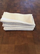 9 Vintage White Linen Dinner Napkins (Serviettes) - $45.82