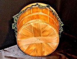 Picnic BasketAA18-1230 Vintage Handmade Lined Woven image 10