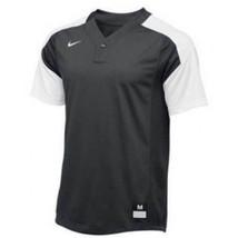 Nike Vapor Laser Baseball Short Sleeve Jersey Boy's Large Gray White 818543-061 - $22.76