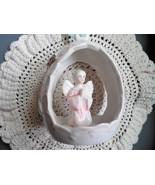 Angel Christmas Ornament, Ceramic Angel Ornament, Angel Tree Ornament, C... - $20.00