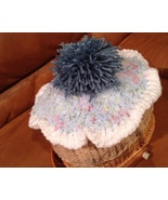 Cupcake hat knit tan, blue frosting with sprinkles, topped with blueberry - $15.00