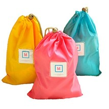 Set of 3 Colorful Nylon Waterproof Drawstring Dry Bags/Storage Bags,10.4 7.2'' image 2