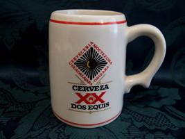 CERVEZA Beer Mug Stein Glass Tankard Vintage Mexico Souvenir Franklin Mi... - £7.23 GBP