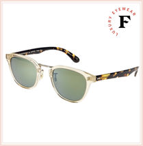 Oliver Peoples LERNER Retro Sunglasses OV5369S Buff Tortoise Green Mirror Unisex image 4