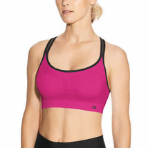 New Champion 2 Pack Criss Cross Seamless Sport Bras Pink/Black image 2