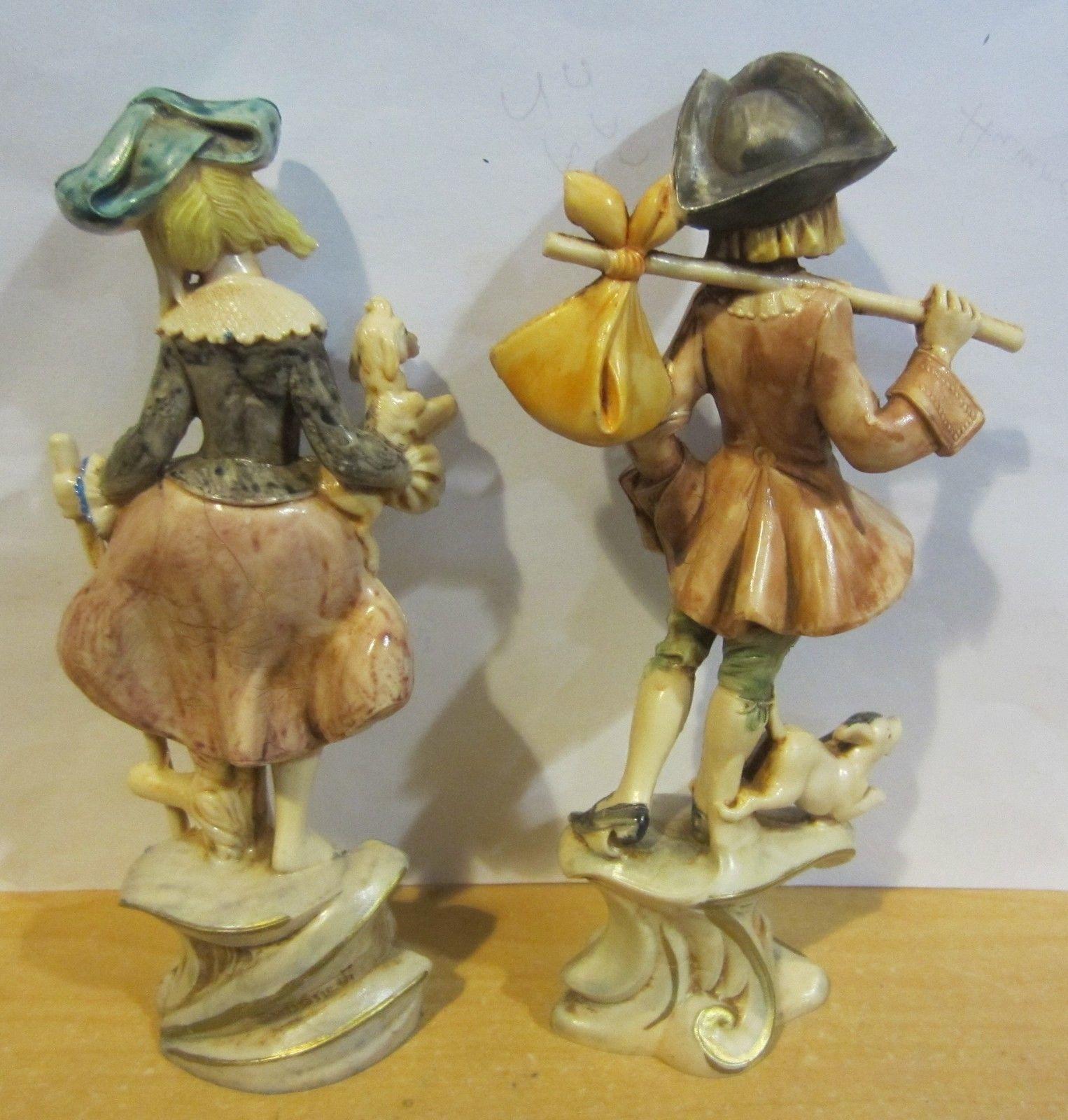 Fontanini Depose Italy Figurines Peasant Girl #278 & Boy #277