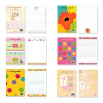 B-THERE Bundle of 6 Writing Tablets, Each with 40 Colorful Pages. Total ... - $11.73