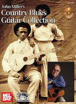 Country Blues Guitar Collection Song Book/CD Set/Fingerpicking/John Miller - $24.99