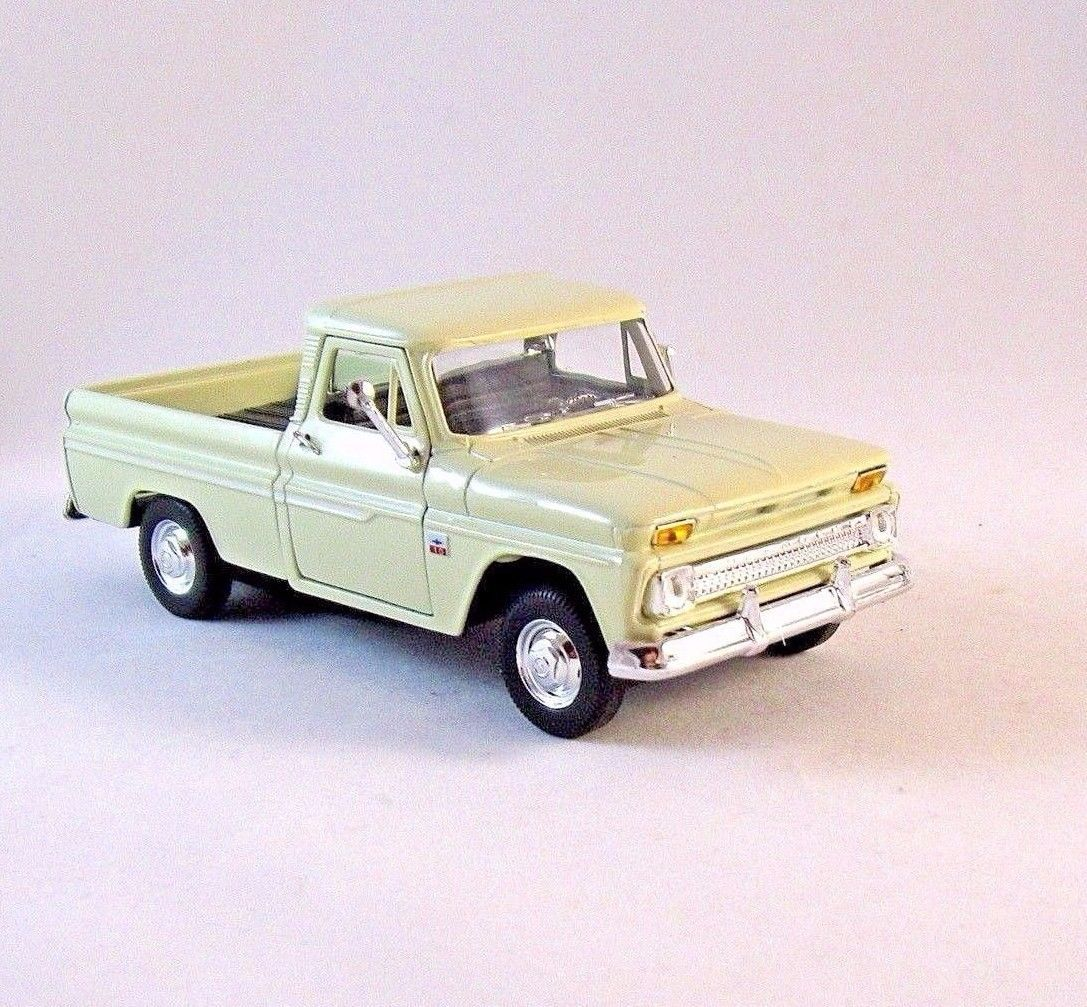 1966 Chevrolet C10 Pick Up Truck Off White Welly 1 32 Diecast Car Model New