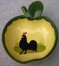 "Zeller Keramik Zell Cocks & Hens Rooster Apple Shaped Bowl 5"" Georg Schm... - $30.81"