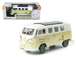 "1962 Volkswagen Microbus ""Space Age Lodge"" Cream 1/18 Diecast Model Car by Gree - $65.38"