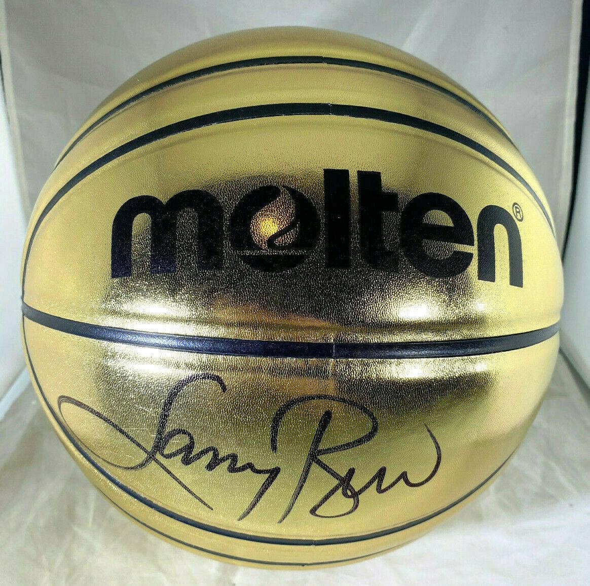 LARRY BIRD / NBA H.O.F. / AUTOGRAPHED MOLTEN GOLD FULL SIZE BASKETBALL / JSA COA