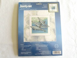 Janlynn Dolphins Counted Cross Stitch Kit 013-0293 Sealed Reinardy 13x13... - $11.99