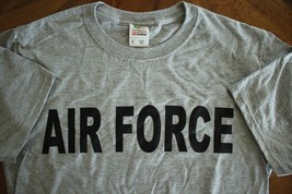 Usaf Us Air Force All Ranks Mos Athletic Pt Crew's Short Sleeve Grey T-SHIRT Lg - $18.80