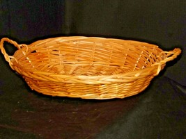 Handmade Woven Wicker Basket with Double Handles AA-191712 Vintage Collectible image 2