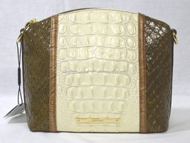 NWT Brahmin Mini Duxbury Shoulder Bag in Oatmeal Tri-Texture. Embossed L... - $179.00