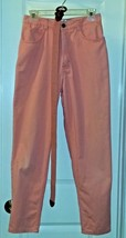 Talbots Womens Jeans Salmon Peach Pink Jean Denim Cotton Pants Sz 10P with Belt - $23.38