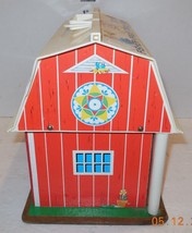 Vintage 1967 Fisher Price Play Family Farm #915 Barn ONLY Wood Base RARE... - $34.65