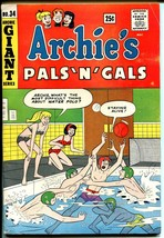 Archie's Pals 'n' Gals #34-1965-Betty-Veronica-swim suits-Giant Edition-... - $47.18