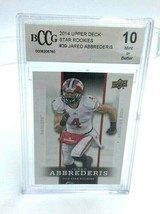 Upper Deck 2014 Jared Abbrederis Wiconsin Badgers Rookie Card BCCG Graded 10 - $12.99