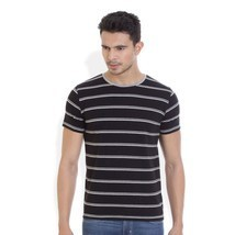 Hols Mens Cotton Stripes Multi colour T-shirt - $21.00